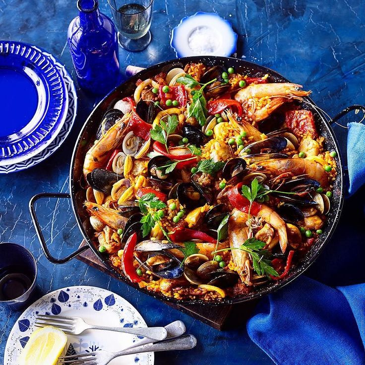 Woodfire Spanish Prawn Paella. Fresh. Exotic. Gorgeous. Brilliant. Cheers! -David  Strap on your sweatpants & click #follow above for a daily buffet of culinary and travel pornography. #Repost & #share via @regrann app.  Blog: http://ift.tt/1vCV6pv  #manvswild #seafood #pescatarian #paleo #crab #shrimp #prawn #fish #rice #muscles #chicken #sausage #paella #lobster #instagood #foodstagram #foodgasm #foodporn #beer #bbq #barbecue #grill #grilling #tbt #beautifulcuisines…