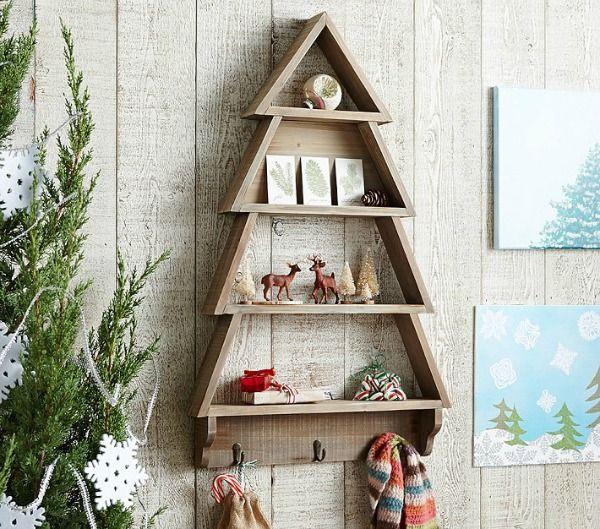 DIY Tree Shaped Shelf. Free Plans To Build A Tree Shelf With Hooks.