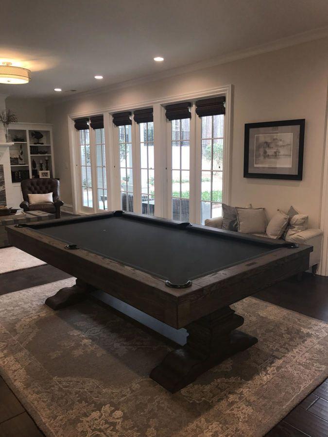 Beaumont 8 Pool Table W Premium Billiard Accessories Installation In 2020 Pool Table Room Pool Table Room Decor Pool Table Slate