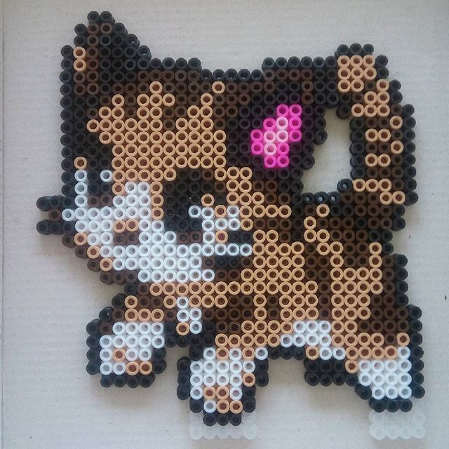 Cat hama beads by sandreta_nez