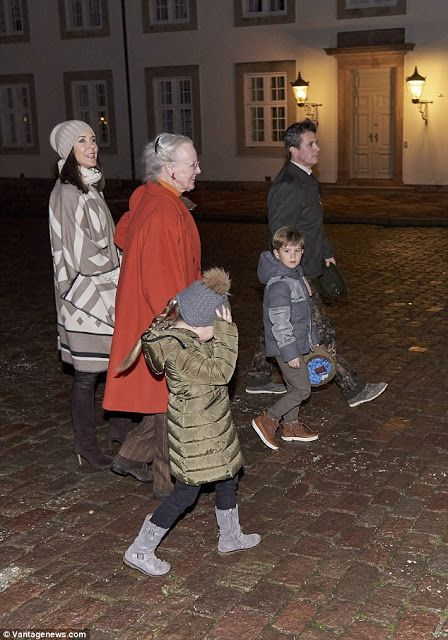 Royals & Fashion - The annual Royal Hunt took place at the palace of Fredensborg. Queen Margrethe, Prince Frederik, Princess Mary, Vincent and Josephine were present.