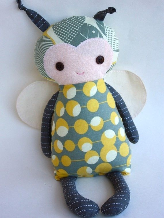 Baby Bumblebee PDF Doll Pattern by bitofwhimsyprims on Etsy, $11.00