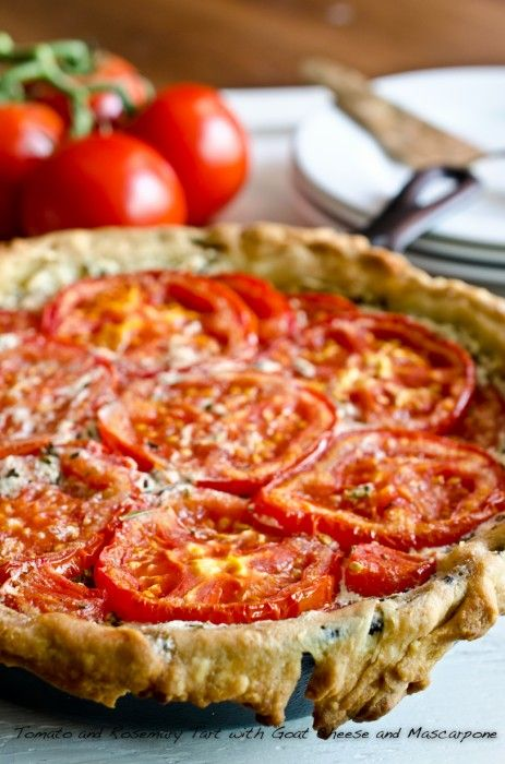Tomato and Rosemary Tart with Goat Cheese and Mascarpone by The Endless Meal - great idea for end of summer overload of tomatoes from the garden!