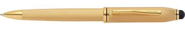 Cross Townsend Stylus Brushed 23K Gold Plate Ballpoint Pen
