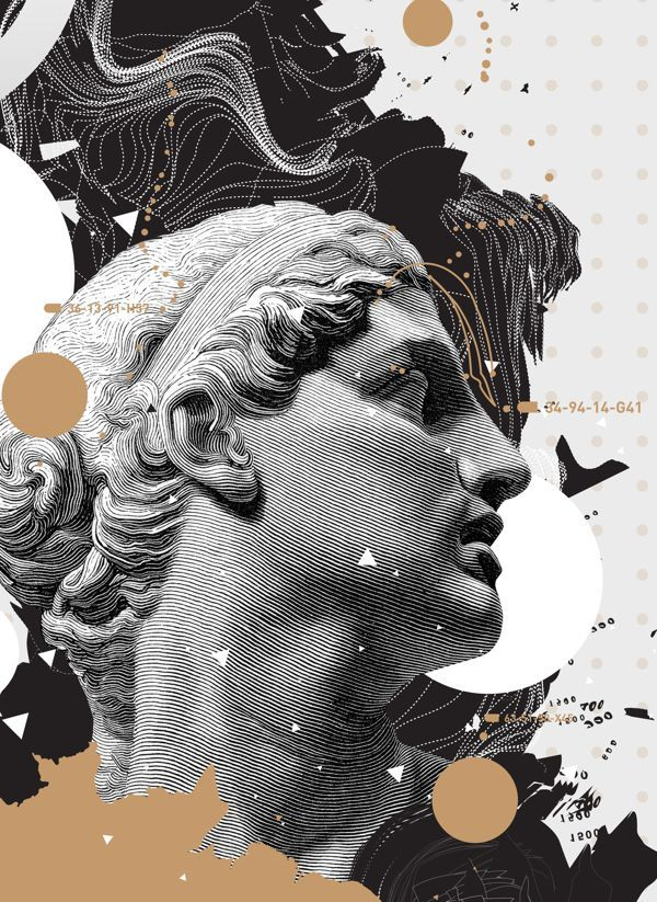 Auri Sacra Fames. by Anthony Neil Dart, via Behance Poster Design Halftone Abstract Graphic Design