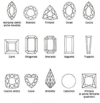 Tagli e forme classiche  pin www.bjewel.it