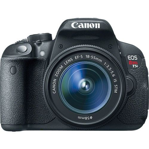 Canon EOS Rebel T5i DSLR Camera with EF-S 18-55mm f/3.5-5.6 IS STM Lens Basic Kit