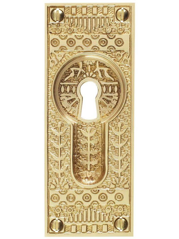 Windsor Pattern Pocket Door Pull with Keyhole | House of Antique Hardware