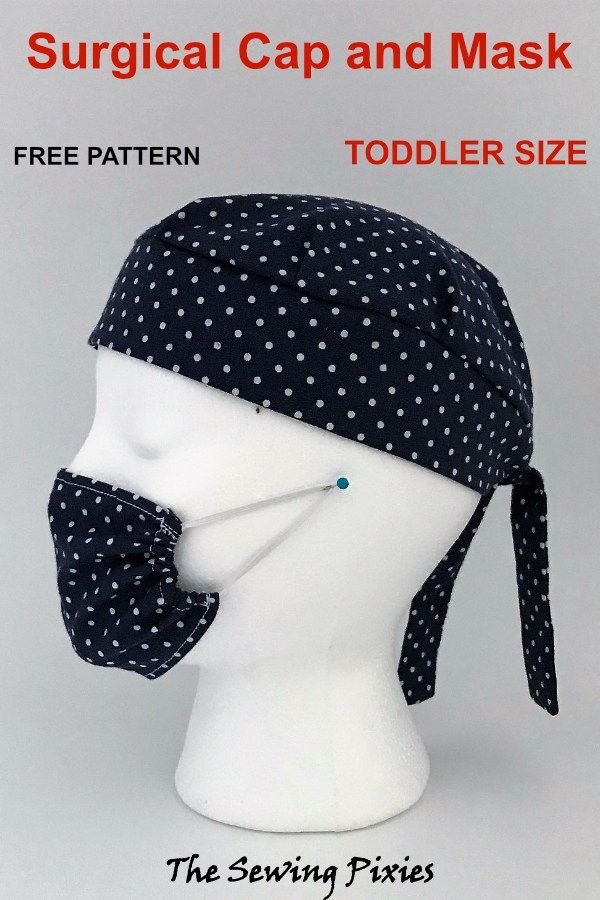 Surgical Cap And Face Mask Pretend Play Free Pattern Agnes Creates Scrub Hat Patterns Cap Patterns Sewing Tutorials Free