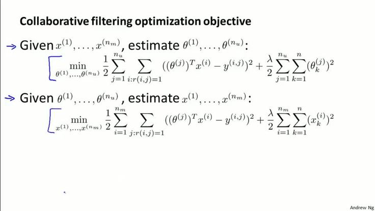 Collaborative Filtering Algorithm - Stanford University | Coursera