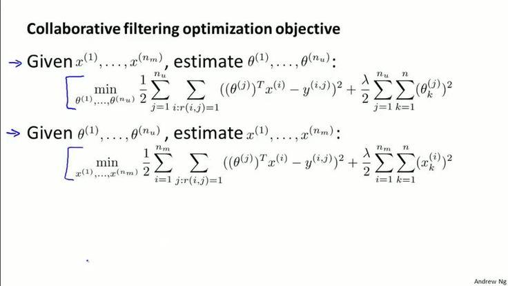 Collaborative Filtering Algorithm - Stanford University | Coursera