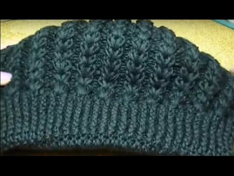 Вязание спицами берет ГЕРДА с узором косы /// knitting cap beret GERD patterned braid - YouTube