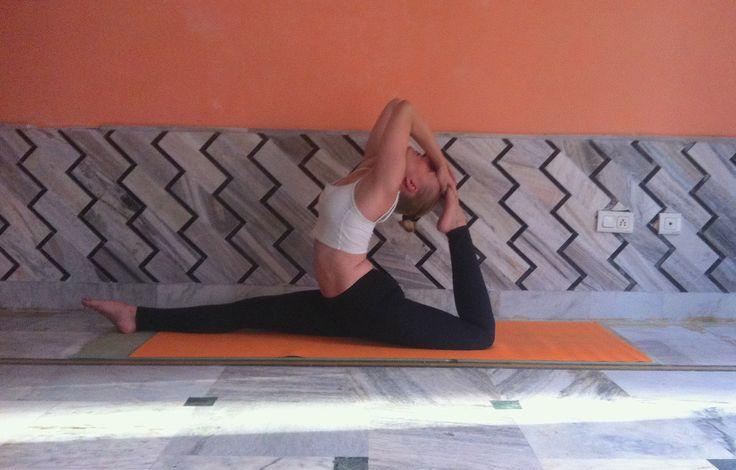 Yoga class, Rishikesh, India