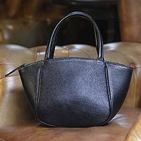 'Black Bangkok Chic' leather tote #handbag