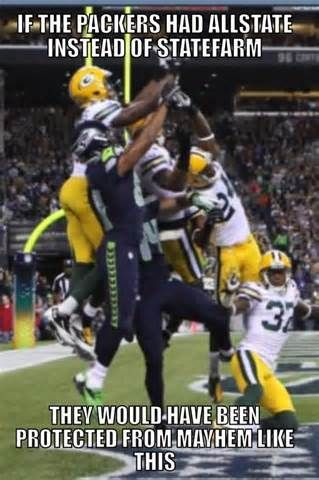 They should have just slapped the ball away but noooo.....had to go for the INT....good for the Seahawks tho'.
