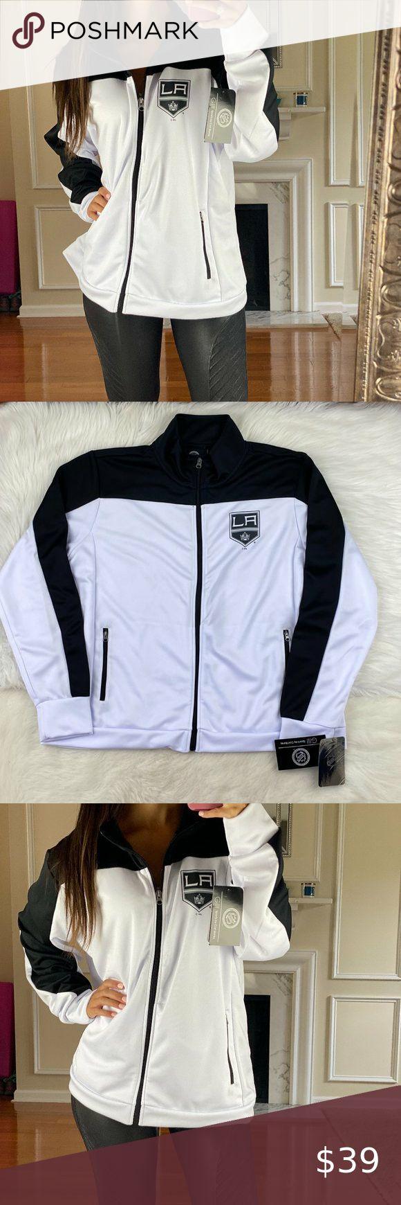 Los Angeles Kings Full Zip Metallic Track Jacket In 2020 Track Jackets Jackets For Women Jackets