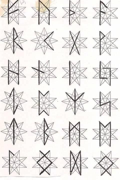 Rune u oktagramu