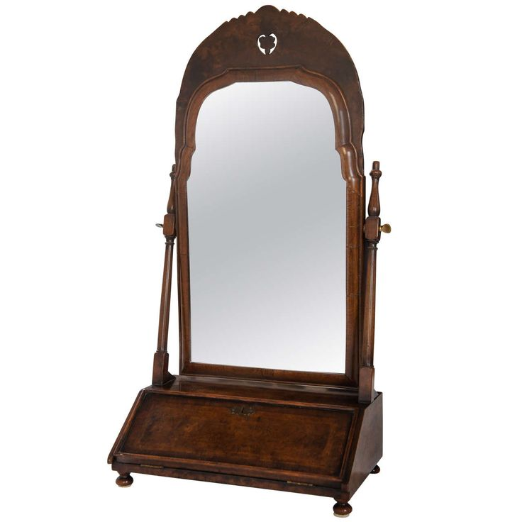 William U0026 Mary Style Burled Walnut Dressing Table Mirror, England, Circa  1910