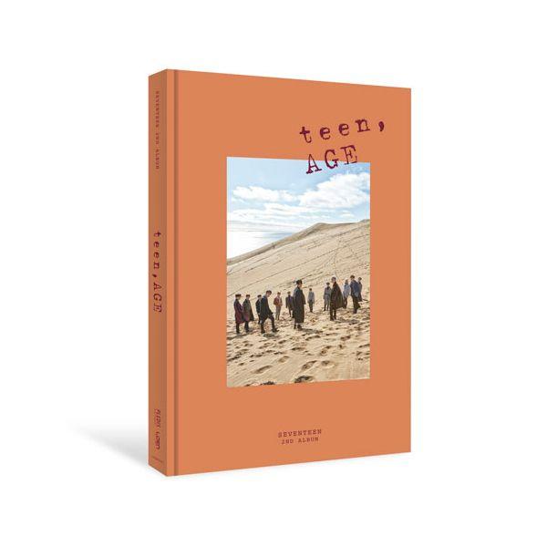 [ K-POP ] [Reservaiton]Poster+seventeen-Album Vol.2[TEEN AGE] Orange Ver.