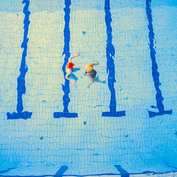 Mária Švarbová's calm and surreal images of bathers at a Slovakian swimming pool