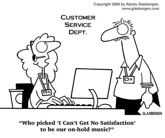 Inspirational Customer Service Quote Humor: Bad Customer Service Cartoons