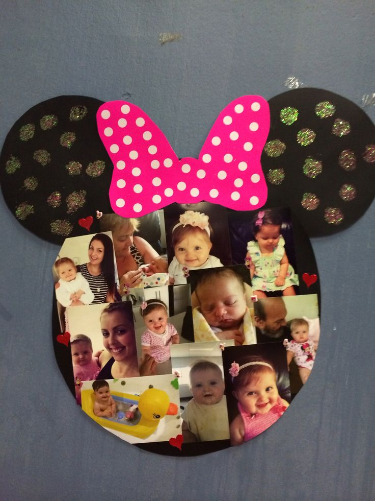 Minnie Mouse photo board