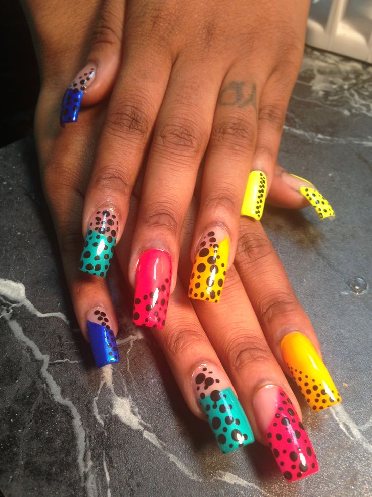 Fine Long Acrylic Nail Art Picture Collection - Nail Paint Design ...