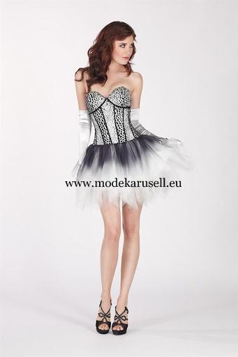 Sexy Abendkleid 2013 Kurz in Schwarz Weiß  www.modekarusell.eu
