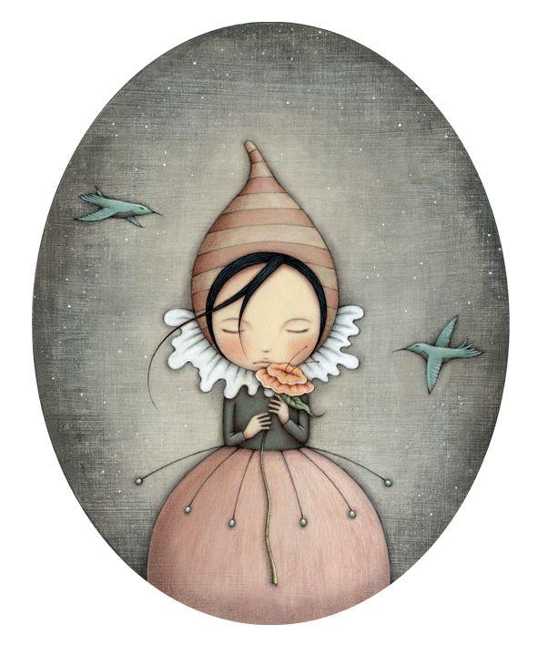 """""""Pursuit of Happiness"""" - by Leanne Ellis,    ~  Gouache & Pencil"""