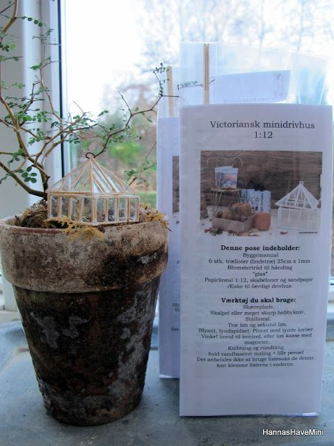 HannasHaveMini: Byg dit eget Victorianske mini drivhus- Kit sælges...