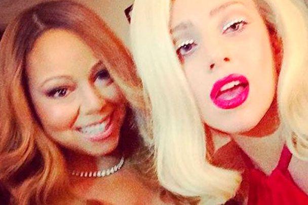 Divando juntas, Mariah Carey e Lady Gaga postam selfie - http://metropolitanafm.uol.com.br/novidades/famosos/divando-juntas-mariah-carey-e-lady-gaga-postam-selfie