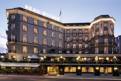Beau-Rivage, a 5-star hotel in Geneva, Switzerland.  Go to www.YourTravelVideos.com or just click on photo for home videos and much more on sites like this.