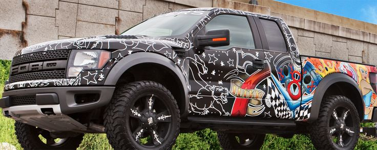 2011 Ford Raptor custom printed and wrapped with 3M 180Cv3.