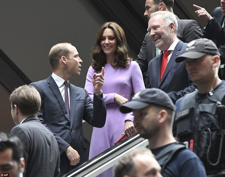 Kate and William could be seen chatting to their hosts as they prepared to wave goodbye to...