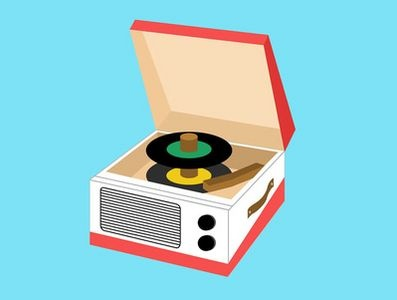 45's and record player