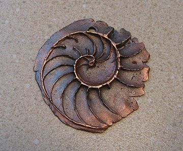 Polymer Clay Ammonite tutorialArt Features, Artists Profile, Artists Work, Ammonite Pendants, Metal Clay, Copprclay Ammonite, Clay Tutorials, Beads Art, Metals Clay
