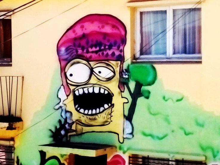 funny Grafiti in valparaiso , streetart, painting, art