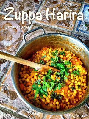 Easy Vegan: Zuppa harira vegetariana - alle spezie maroicchine con ceci e pomodoro