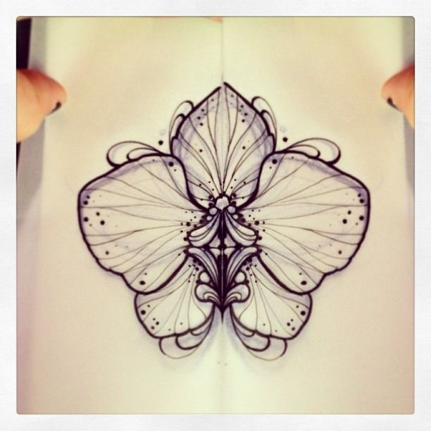 Miss Juliet Tattoos — Orchid #orchid