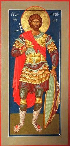 Святой мученик Максим Воин. Иконописец Наталия Пискунова.