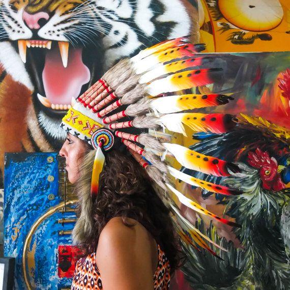 Het origineel  de echte Feather Rasta Chief Indische door AureusArts