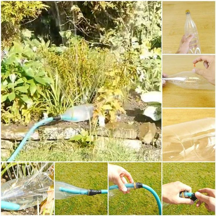 Creative Homemade Water Sprinklers from Plastic Bottle