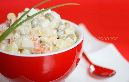 Russian Potato Salad with apples.  I first tasted this salad at the Chatty Squirrel Cafe in Omaha, NE.  It's wonderful!