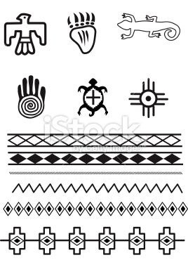 native american symbols | Native American Symbols Royalty Free Stock Vector Art Illustration