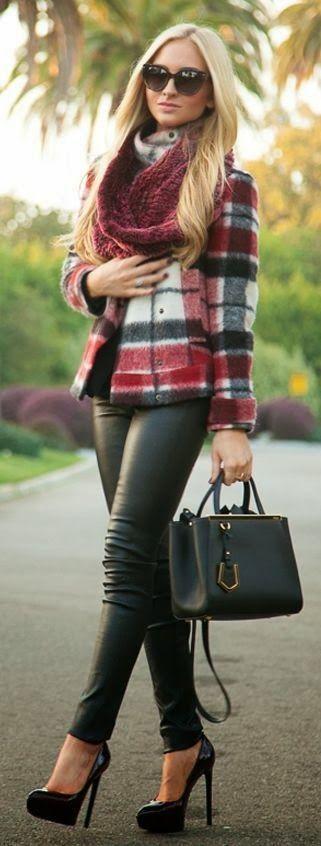 Leather pant, coat