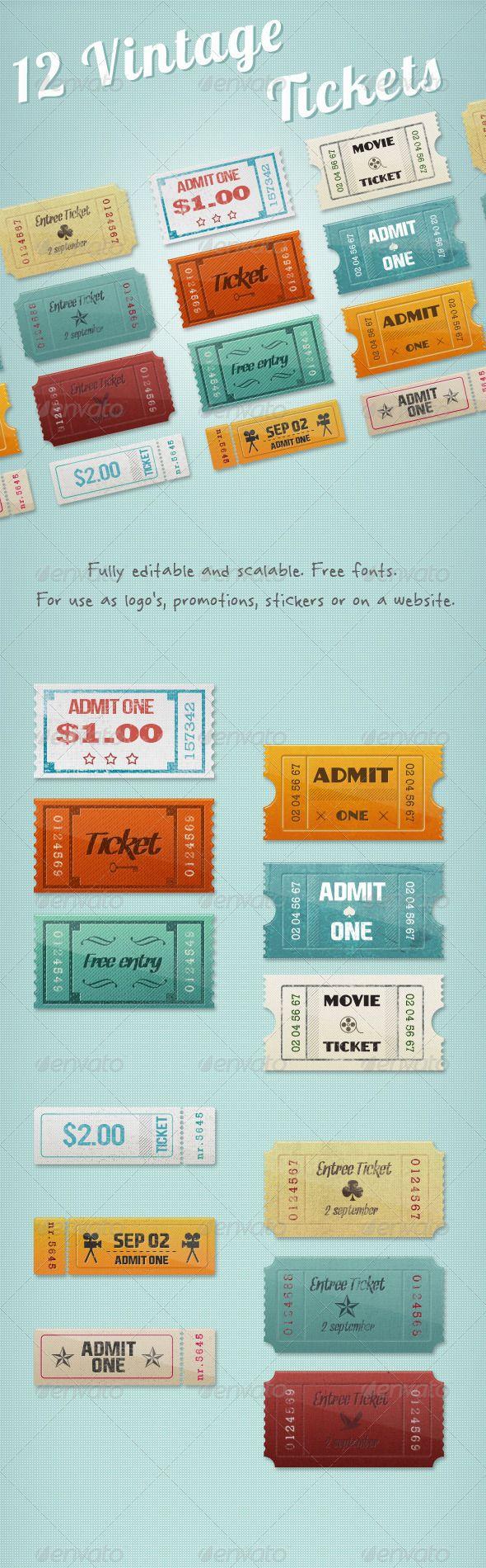 12 Vintage Event Cinema Tickets