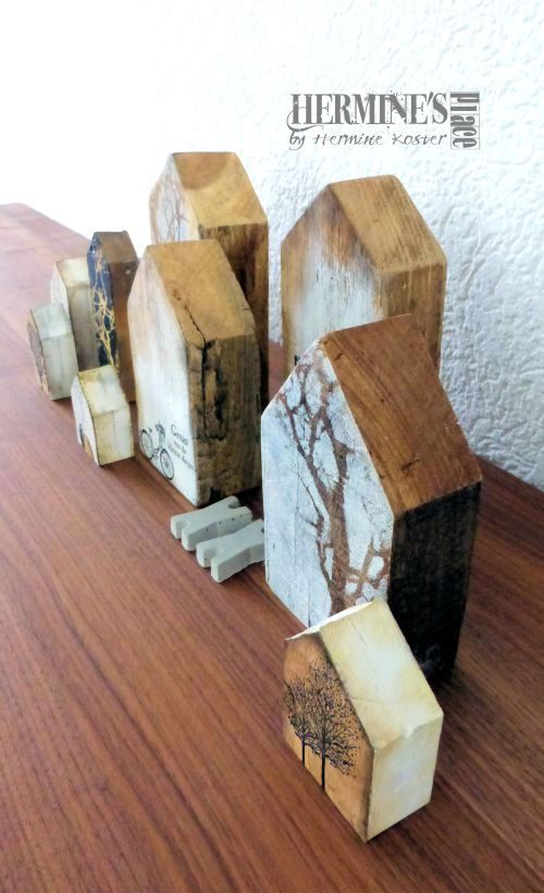 wooden houses by Hermine Koster