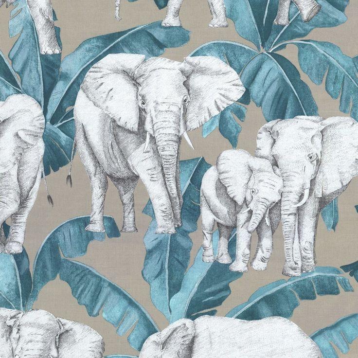 Tissu bachette Éléphants  - Mondial Tissus
