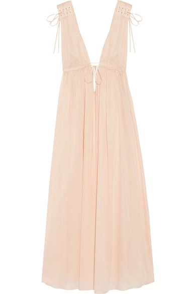 Three Graces London - Octavia Cotton-voile Nightdress - Neutral - UK12