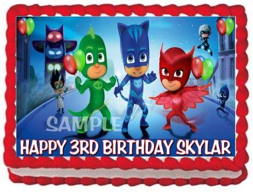 Sheet Cake Birthday Cake Pj Mask Cake